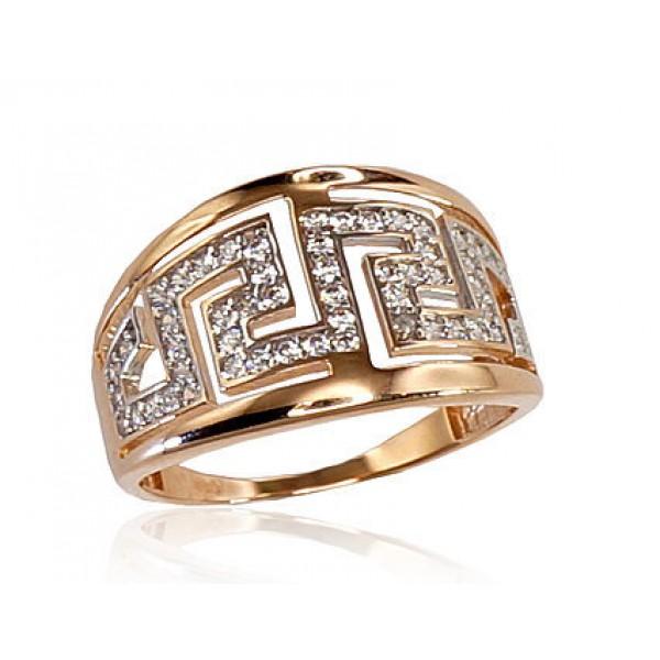 """Zelta gredzens """"Roda"""" no 585 proves sarkanā zelta"""