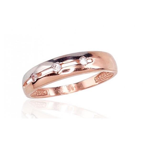 """Zelta gredzens """"Tokija III"""" no 585 proves sarkanā zelta"""