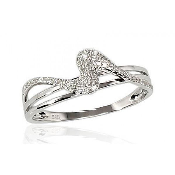 """Zelta gredzens ar briljantiem """"Jūras Vilnis"""" no 585 proves baltā zelta"""