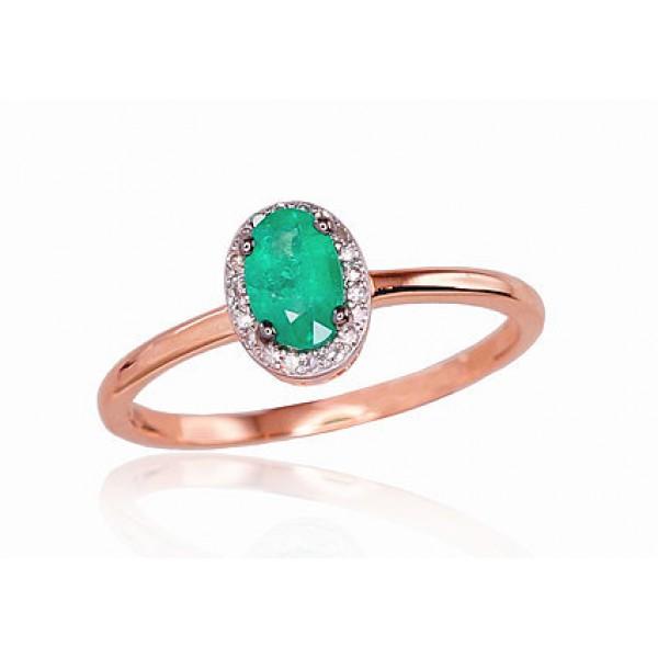 """Zelta gredzens ar briljantiem """"Izsmālcinātība III"""" no 585 proves sarkanā zelta"""