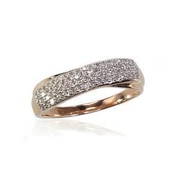 """Zelta gredzens ar briljantiem """"Džoanna III"""" no 585 proves sarkanā zelta"""