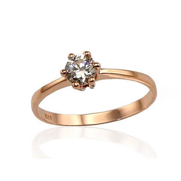 """Zelta gredzens """"Jaunā Klasika VII"""" no 585 proves sarkanā zelta"""