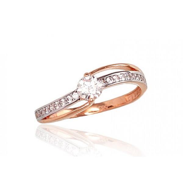 "Zelta gredzens ""Ērika VI"" no 585 proves sarkanā zelta"