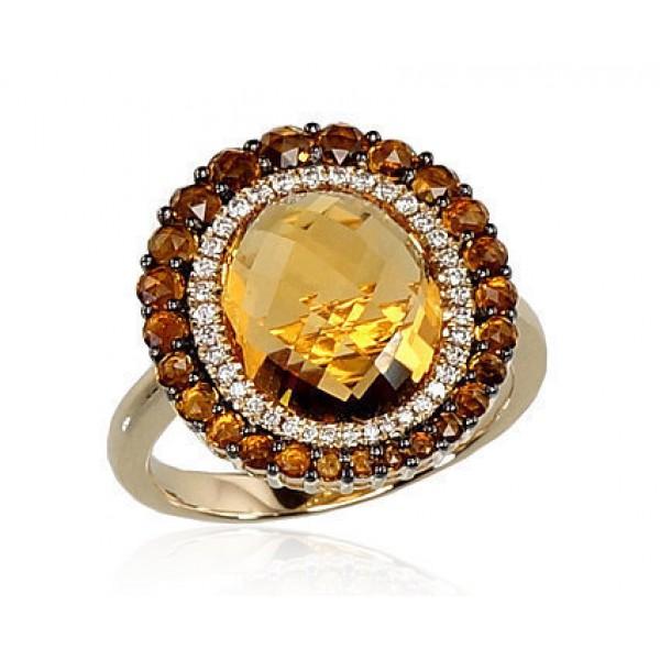 "Zelta gredzens ar briljantiem ""Morrigan II"" no 585 proves sarkanā zelta"