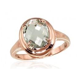 "Zelta gredzens ar ametistu ""Diana"" no 585 proves sarkanā zelta"