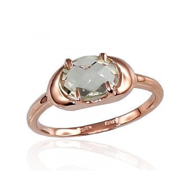 "Zelta gredzens ar ametistu ""Malori VI"" no 585 proves sarkanā zelta"