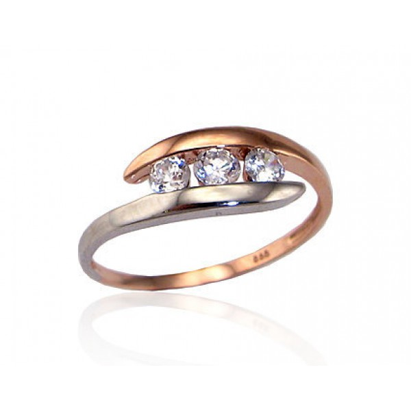 """Zelta gredzens """"Komēta VIII"""" no 585 proves sarkanā zelta"""