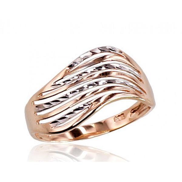 """Zelta gredzens """"Zelta Vilnis VIII"""" no 585 proves sarkanā zelta"""