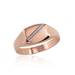 "Vīriešu zelta gredzens ""Augstmanis II"" no 585 proves sarkanā zelta"