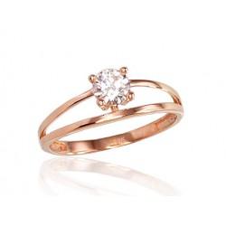 """Zelta gredzens """"Kristāla Horizonts III"""" no 585 proves sarkanā zelta"""