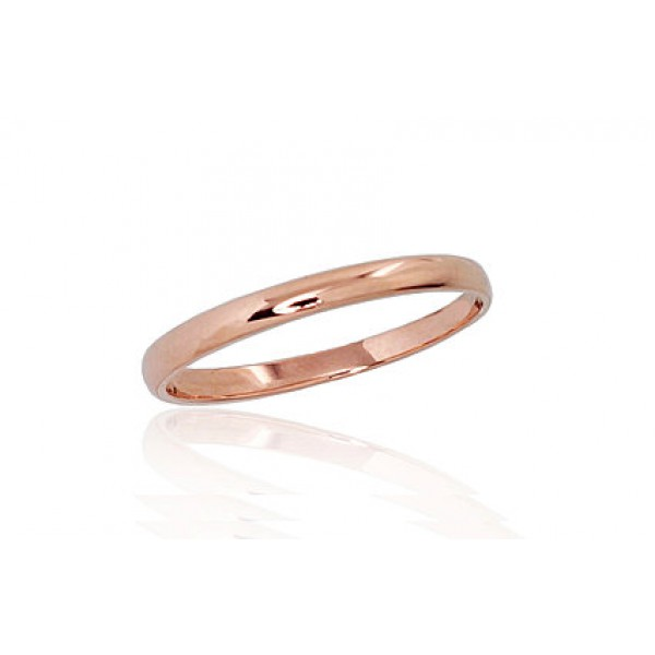 """Zelta laulības gredzens """"Klasika II"""" no 585 proves sarkanā zelta"""