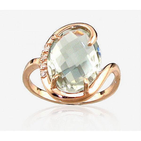 "Zelta gredzens ar ametistu ""Palermo"" no 585 proves sarkanā zelta"