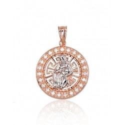 """Zelta kulons - zodiaka zīme """"Ūdensvīrs"""" no 585 proves sarkanā zelta"""