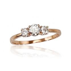 """Zelta gredzens """"Zelta Mīlestība II"""" no 585 proves sarkanā zelta"""