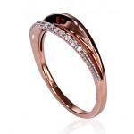 "Zelta gredzens ar briljantiem ""Babilona V"" no 585 proves sarkanā zelta"