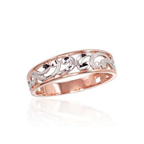"""Zelta gredzens """"Silvija V"""" no 585 proves sarkanā zelta"""