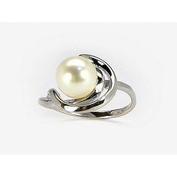 "Zelta gredzens ar pērlēm ""Galoss XVII"" no 585 proves baltā zelta"