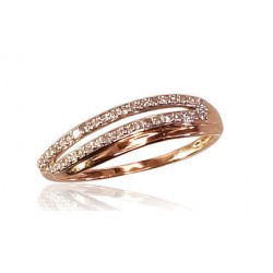 "Zelta gredzens ar briljantiem ""Zelta Raksts VII"" no 585 proves sarkanā zelta"