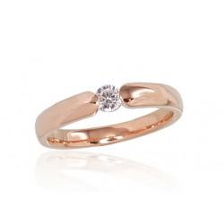 """Zelta gredzens ar briljantiem """"Jaunā Klasika"""" no 585 proves sarkanā zelta"""