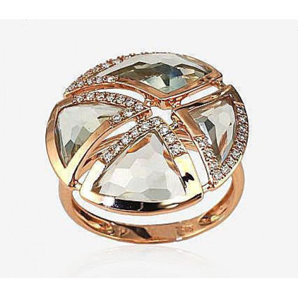 "Zelta gredzens ar briljantiem ""Andora II"" no 585 proves sarkanā zelta"