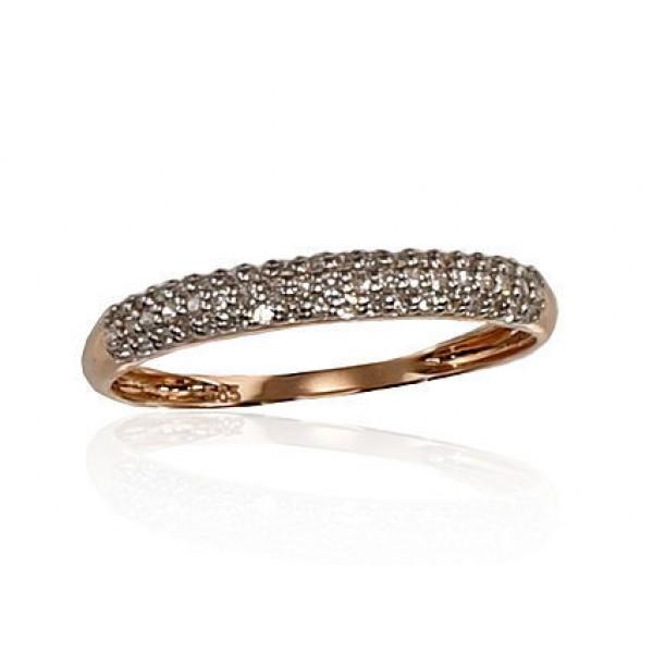 "Zelta gredzens ar briljantiem ""Babilona IV"" no 585 proves sarkanā zelta"