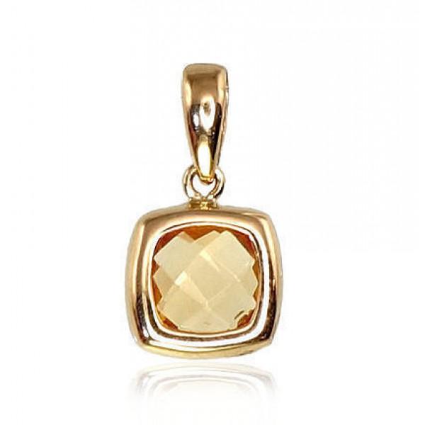 """Zelta kulons ar citrīnu """"Oāze"""" no 585 proves dzeltenā zelta"""