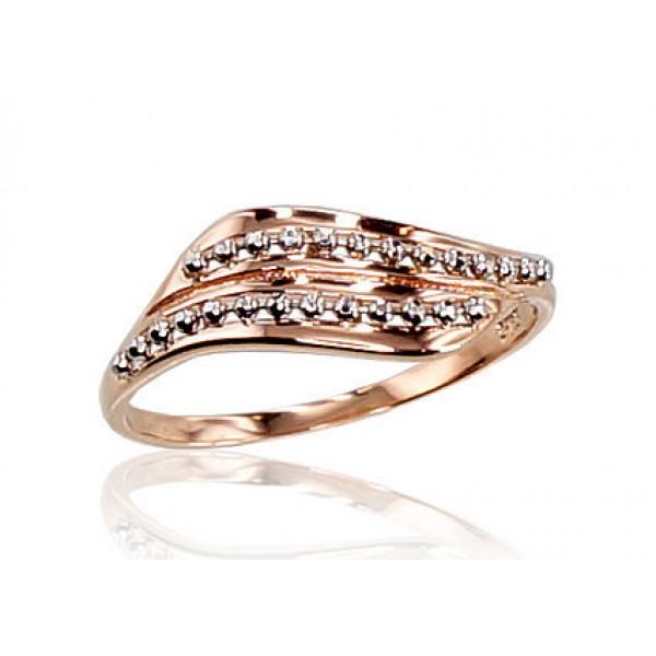 """Zelta gredzens """"Zelta Vilnis IX"""" no 585 proves sarkanā zelta"""