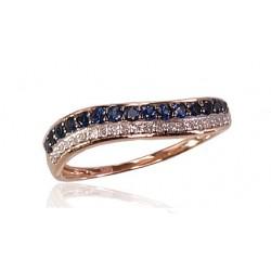"""Zelta gredzens ar briljantiem """"Zelta Vilnis III"""" no 585 proves sarkanā zelta"""
