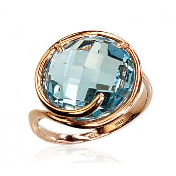 """Zelta gredzens ar topāzu """"Topāza Diženums"""" no 585 proves sarkanā zelta"""