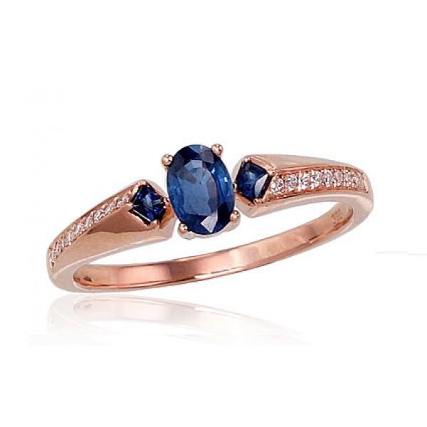"Zelta gredzens ar briljantiem ""Misa II"" no 585 proves sarkanā zelta"
