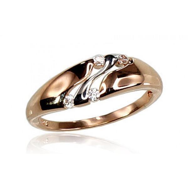 "Zelta gredzens ""Tokija V"" no 585 proves sarkanā zelta"