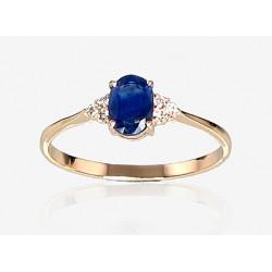 """Zelta gredzens ar briljantiem """"Izsmālcinātība VIII"""" no 585 proves sarkanā zelta"""