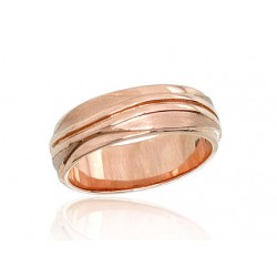 "Zelta laulības gredzens ""Harmonija III"" no 585 proves sarkanā zelta"