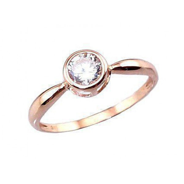 """Zelta gredzens """"Jaunā Klasika VI"""" no 585 proves sarkanā zelta"""