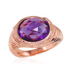 "Zelta gredzens ar briljantiem ""Lurdes"" no 585 proves sarkanā zelta"