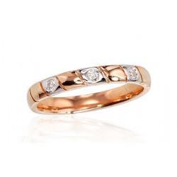 """Zelta gredzens ar briljantiem """"Tokija IV"""" no 585 proves sarkanā zelta"""