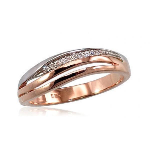 "Zelta gredzens ar briljantiem ""Zelta Vilnis IX"" no 585 proves sarkanā zelta"