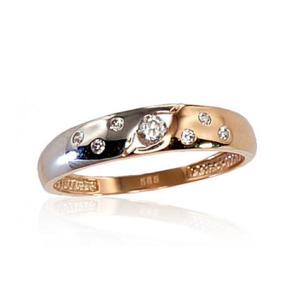 """Zelta gredzens """"Tokija X"""" no 585 proves sarkanā zelta"""