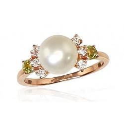"Zelta gredzens ar pērlēm ""Notika III"" no 585 proves sarkanā zelta"