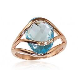 "Zelta gredzens ar topāzu ""Parīze"" no 585 proves sarkanā zelta"