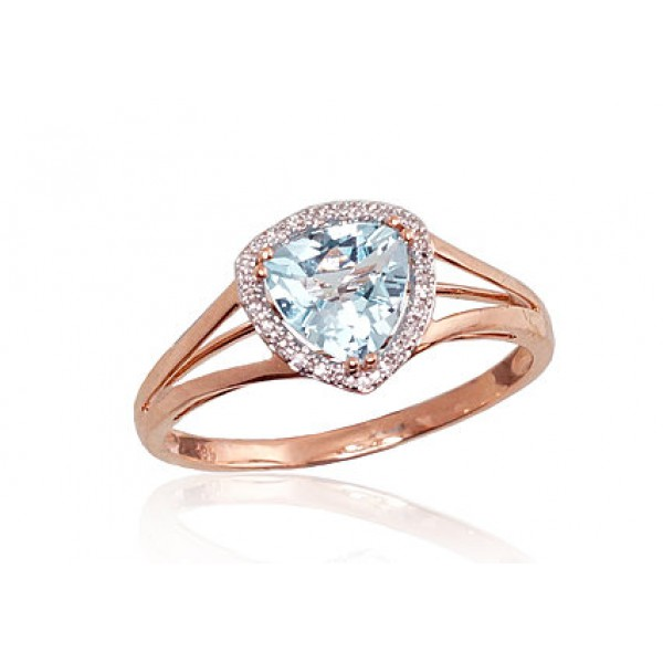 "Zelta gredzens ar briljantiem ""Princese II"" no 585 proves sarkanā zelta"