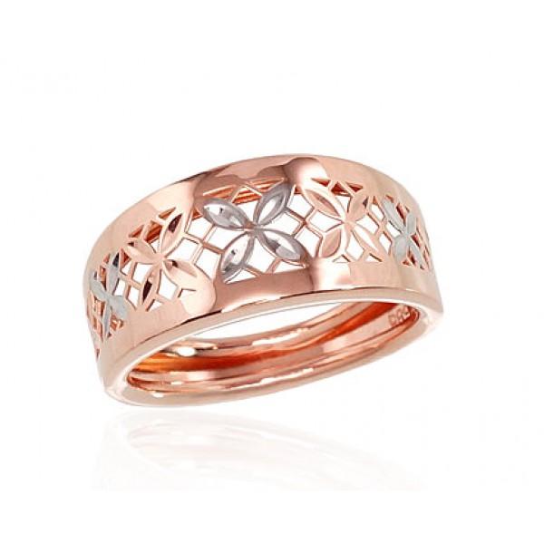 """Zelta gredzens """"Silvija III"""" no 585 proves sarkanā zelta"""