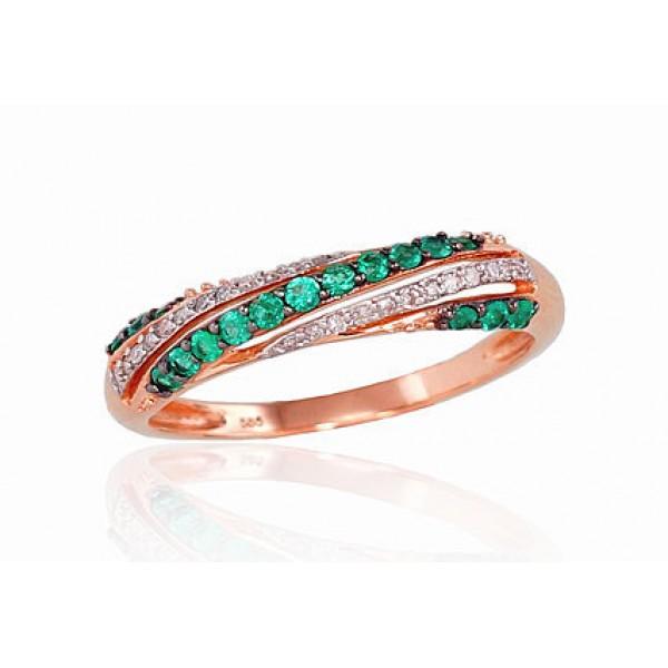 "Zelta gredzens ar briljantiem ""Roksana III"" no 585 proves sarkanā zelta"