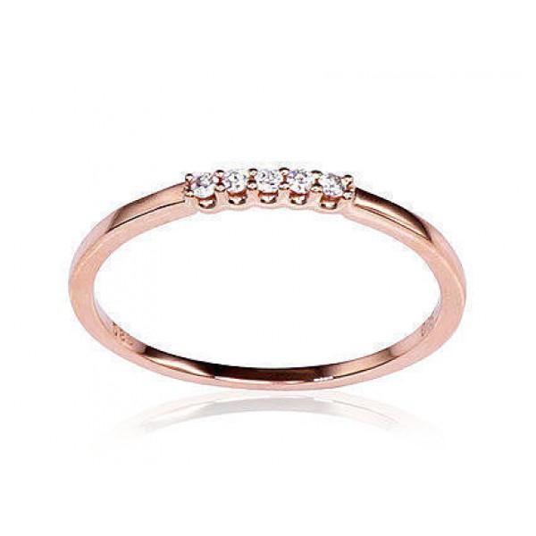 """Zelta gredzens ar briljantiem """"Zelta Mīlestība IX"""" no 585 proves sarkanā zelta"""