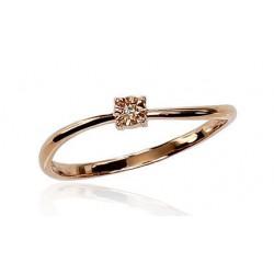 """Zelta gredzens ar briljantiem """"Ērika IV"""" no 585 proves sarkanā zelta"""