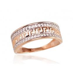 """Zelta gredzens """"Grieķu Motīvi"""" no 585 proves sarkanā zelta"""