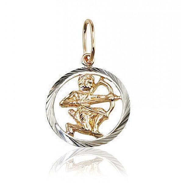 "Zelta kulons - zodiaka zīme ""Strēlnieks"" no 585 proves sarkanā zelta"