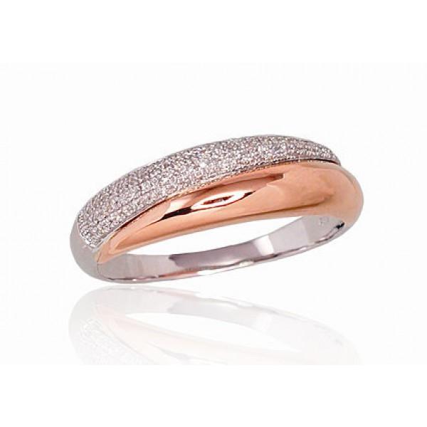 """Zelta gredzens ar briljantiem """"Brigita"""" no 585 proves sarkanā zelta"""
