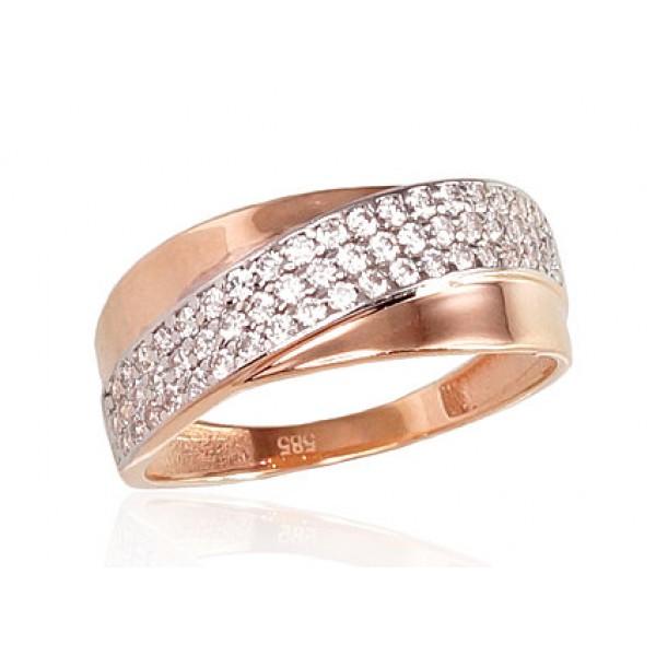 """Zelta gredzens """"Džoanna III"""" no 585 proves sarkanā zelta"""