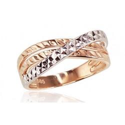 """Zelta gredzens """"Zelta Raksts XI"""" no 585 proves sarkanā zelta"""
